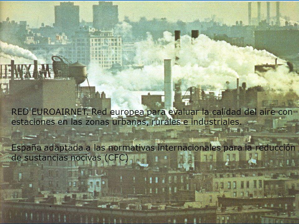 RED EUROAIRNET. Red europea para evaluar la calidad del aire con estaciones en las zonas urbanas, rurales e industriales. España adaptada a las normat
