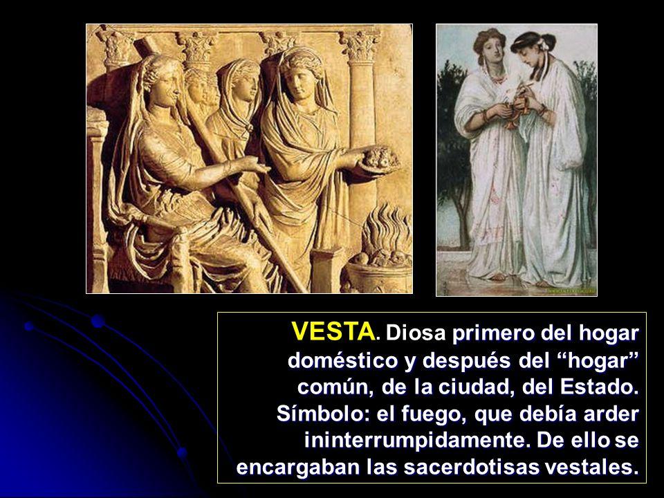 DIANA Asimilada a la Artemis de los griegos.Diosa virgen y eternamente joven.