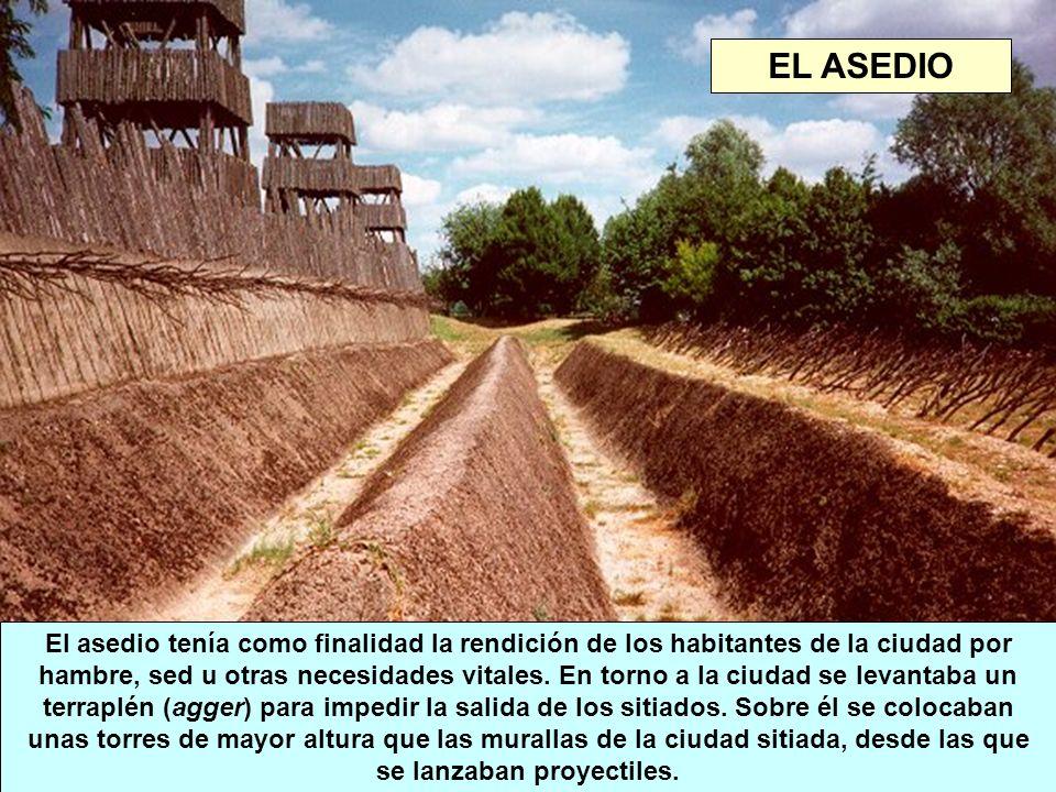 El asedio tenía como finalidad la rendición de los habitantes de la ciudad por hambre, sed u otras necesidades vitales. En torno a la ciudad se levant