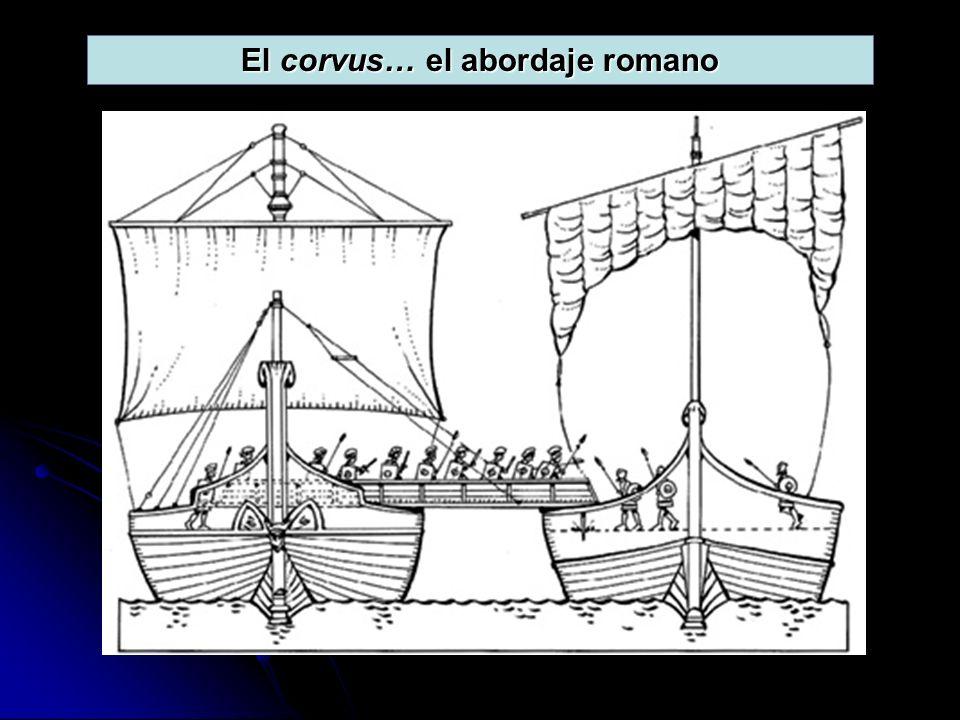 El corvus… el abordaje romano