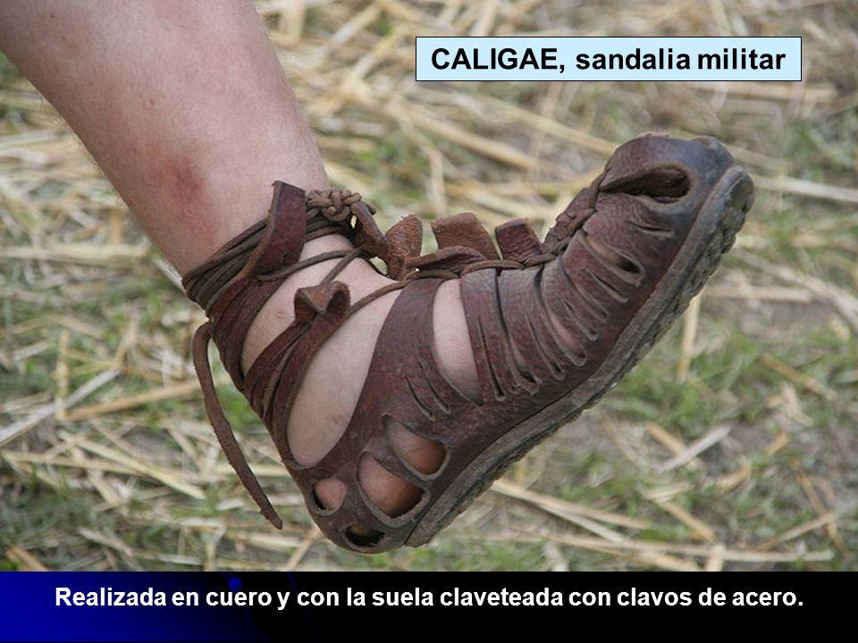 Este era el calzado típico de las legiones romanas.