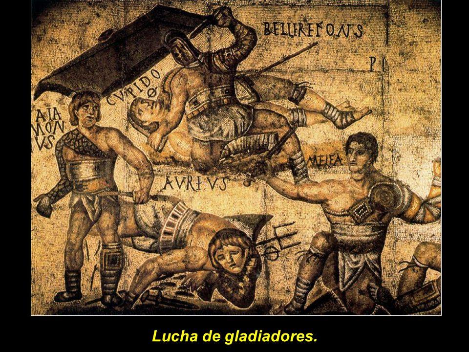 Lucha de gladiadores.