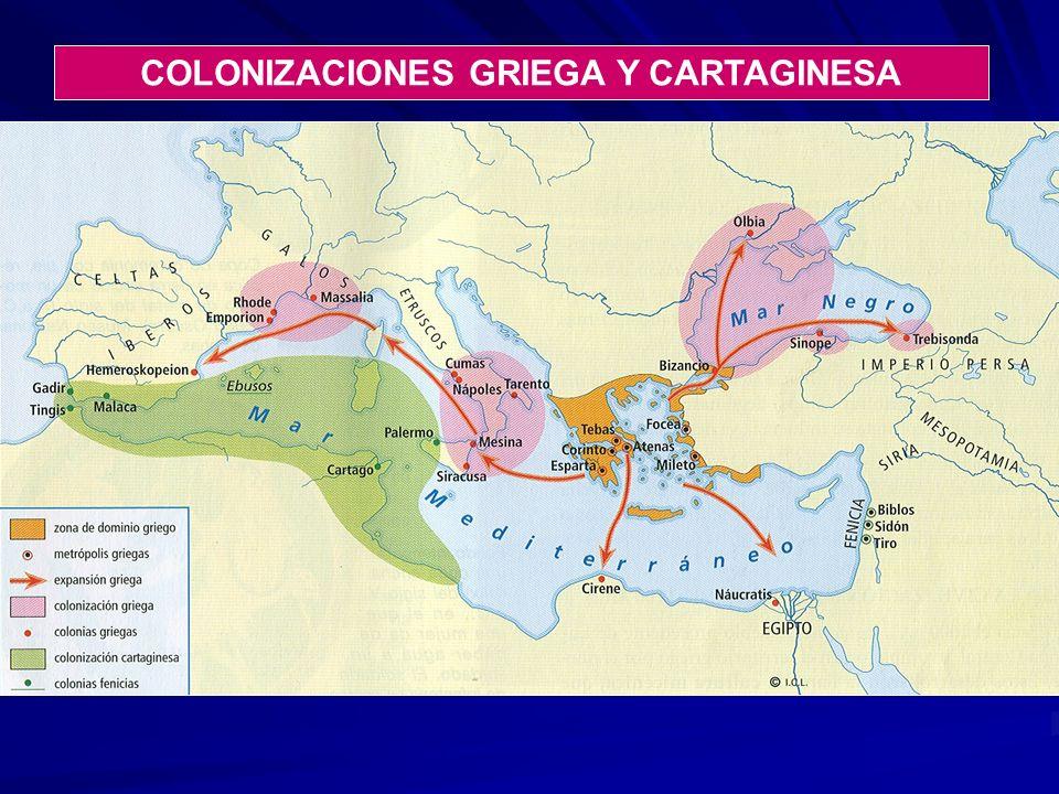 COLONIZACIONES GRIEGA Y CARTAGINESA
