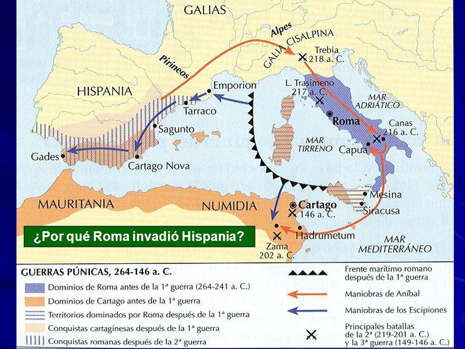 ¿Por qué Roma invadió Hispania?