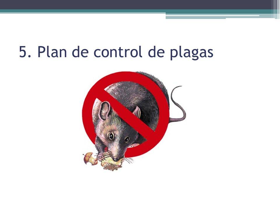 5. Plan de control de plagas