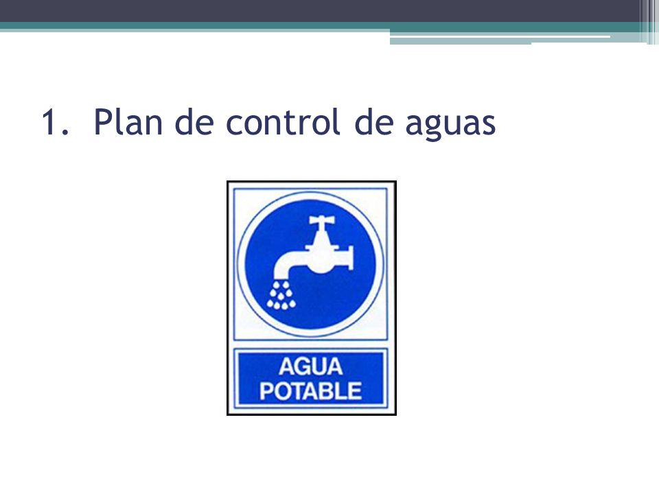 1.Plan de control de aguas