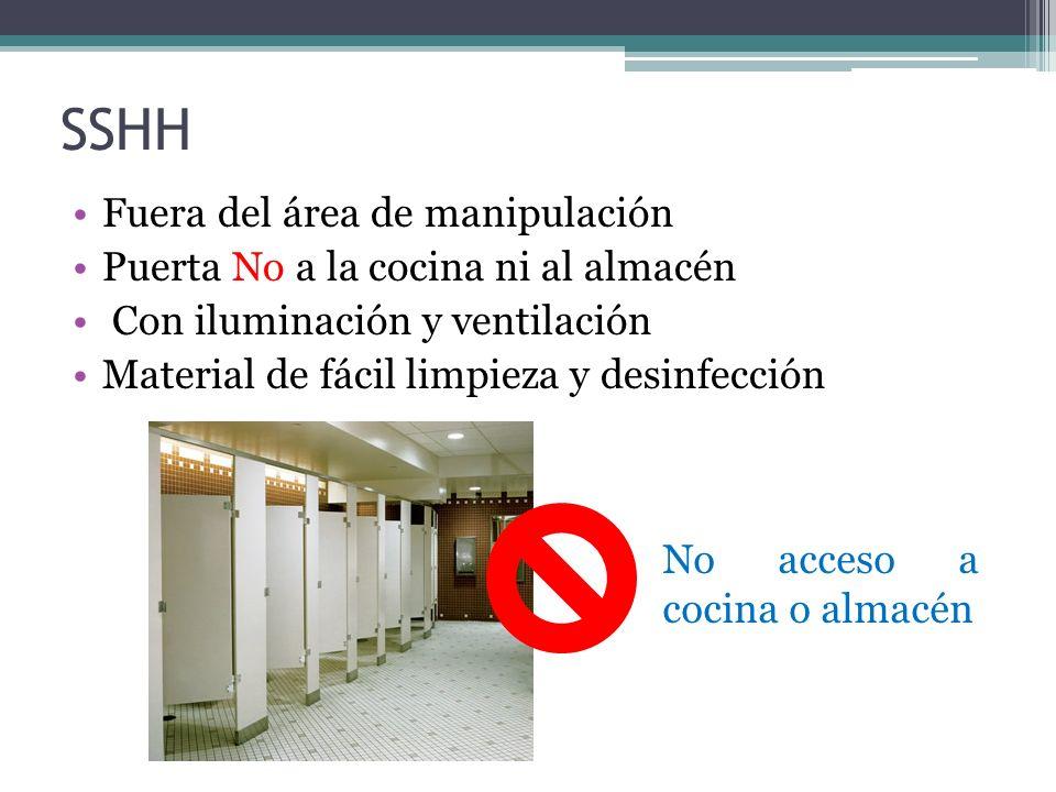 Los lavatorios estarán provistos de: Dispensadores de jabón líquido Toallas desechables o secadores automáticos de aire Recipientes para eliminación de papeles