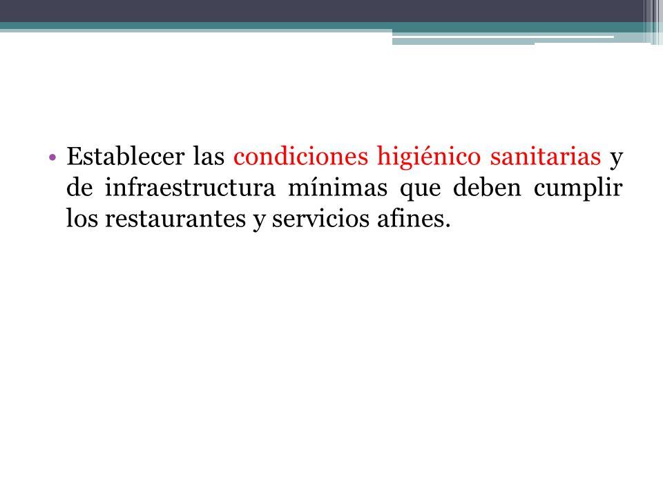 Aplicación de la Norma Sanitaria En los restaurantes y servicios afines donde se comercializan alimentos y bebidas