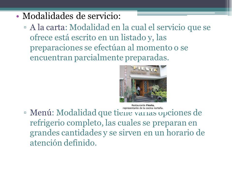 Autoservicio: Modalidad que permite al comensal servirse los alimentos por sí mismo, los cuales se encuentran en una mesa de uso común (buffet).
