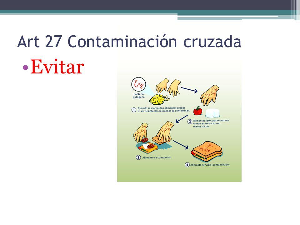 Art 27 Contaminación cruzada Evitar