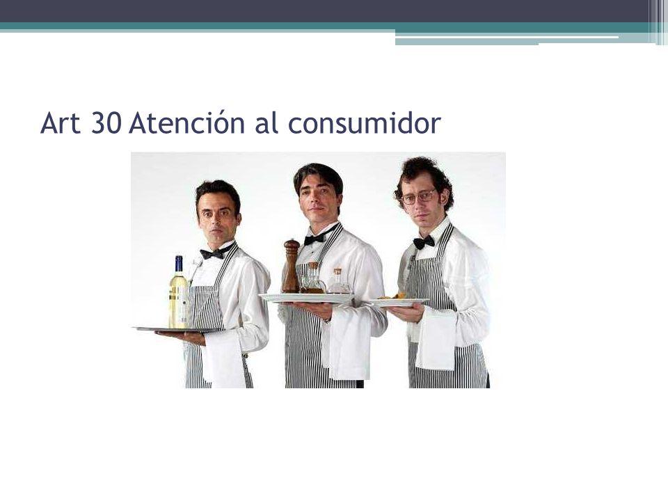 Art 30 Atención al consumidor