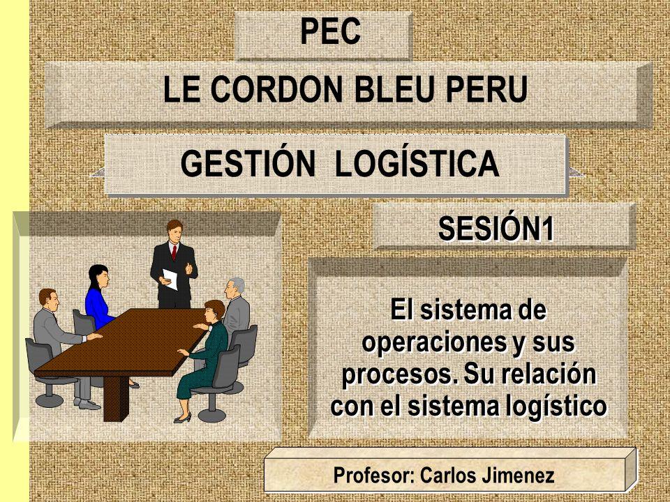 GESTIÓN LOGÍSTICA El sistema de operaciones y sus procesos. Su relación con el sistema logístico SESIÓN1 Profesor: Carlos Jimenez LE CORDON BLEU PERU
