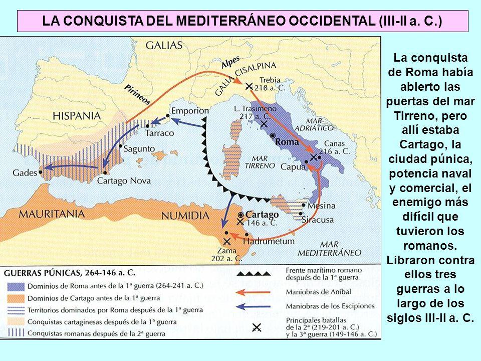 La conquista de Roma había abierto las puertas del mar Tirreno, pero allí estaba Cartago, la ciudad púnica, potencia naval y comercial, el enemigo más