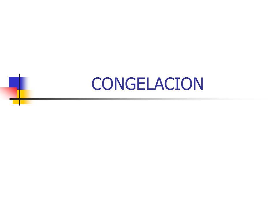 CARACTERISTICAS DE LA CONGELACION Se emplean temperaturas inferiores a -18°C.