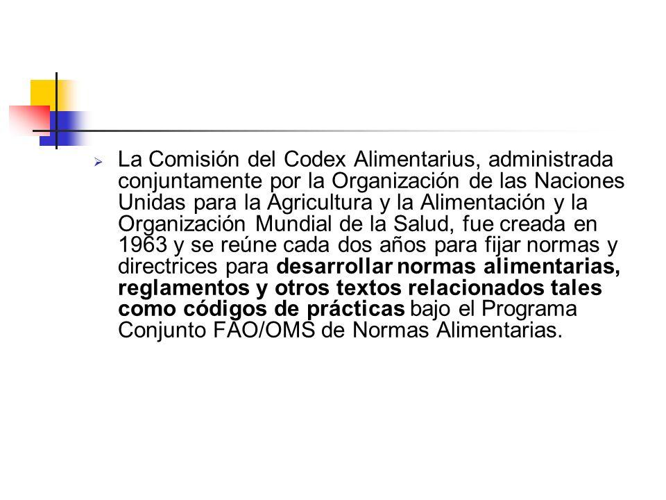 CODEX ALIMENTARIUS El Codex Alimentarius es un código alimentario internacional que constituye la base para muchas normas alimentarias nacionales. Reg