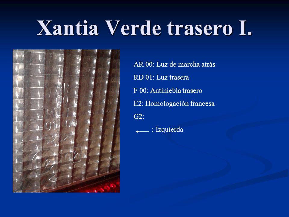 XM delantero. HCR: halogena 30 E2: lugar de homologacion 0488006: numero de homologacion