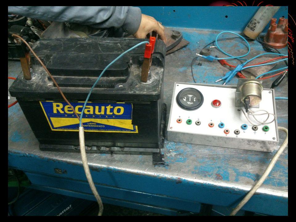 INDICADOR 3 Sensor de temperatura de agua Valores: Temperat ura (ºC) Resistenc ia (ohmios) 50 45K 90 55K 130 75K