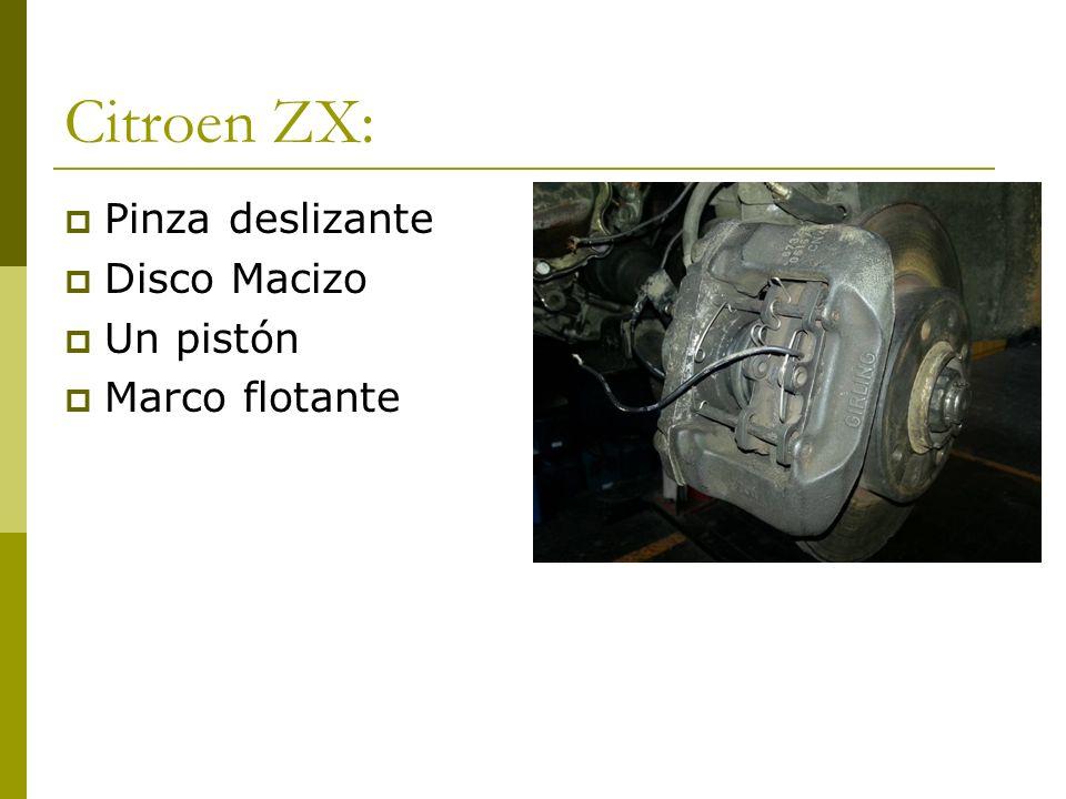 Citroen ZX: Pinza deslizante Disco Macizo Un pistón Marco flotante