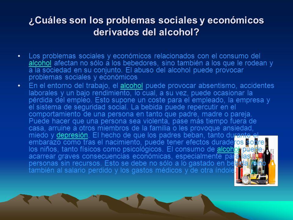 ¿Cuáles son los problemas sociales y económicos derivados del alcohol.