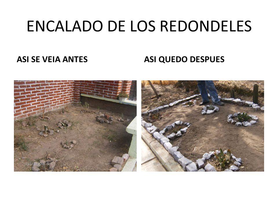ENCALADO DE LOS REDONDELES ASI SE VEIA ANTESASI QUEDO DESPUES