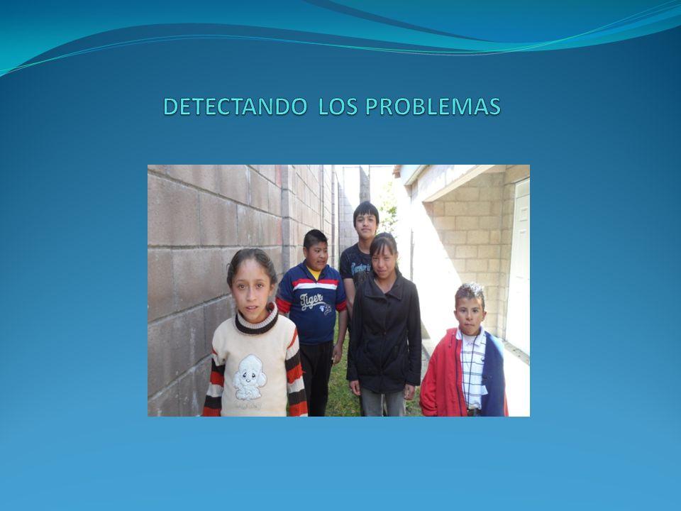 PROBLEMAS DETECTADOS 1.- TUBO DEL TINACO ROTO.2.- EL ACCESO A LOS JUEGOS ES PELIGROSO.