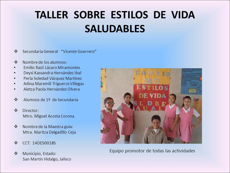 SIENTE El Proyecto Diseña el Cambio 2012-2013 en la Secundaria Vicente Guerrero, involucró a 2 grupos (60 alumnos) de 1º grado.