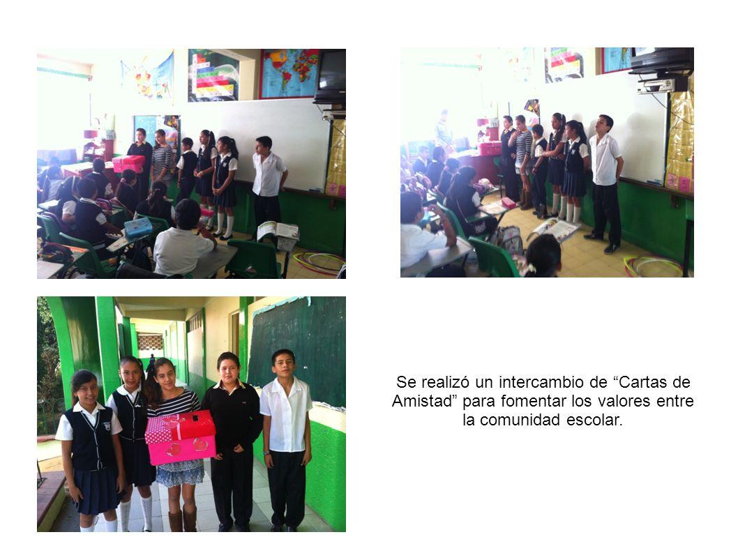 Se realizó un intercambio de Cartas de Amistad para fomentar los valores entre la comunidad escolar.