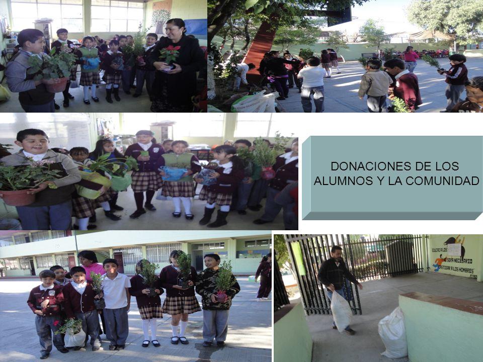 DONACIONES DE LOS ALUMNOS Y LA COMUNIDAD