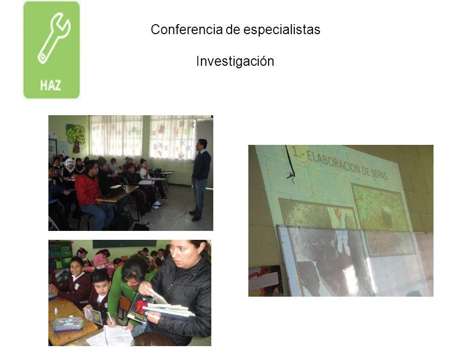 Conferencia de especialistas Investigación