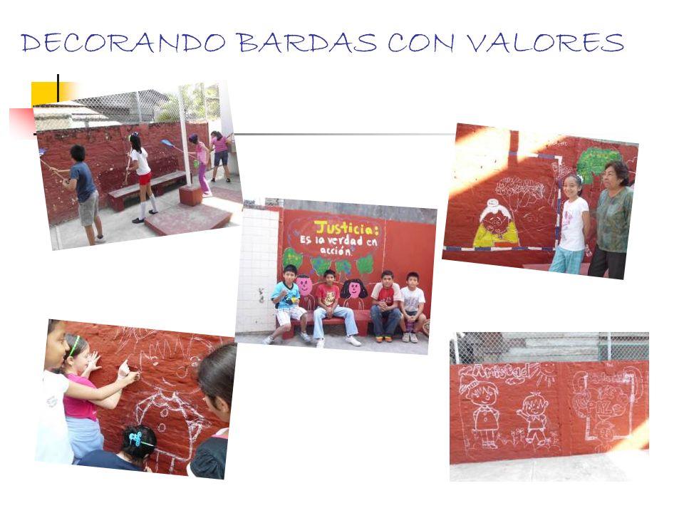 DECORANDO BARDAS CON VALORES