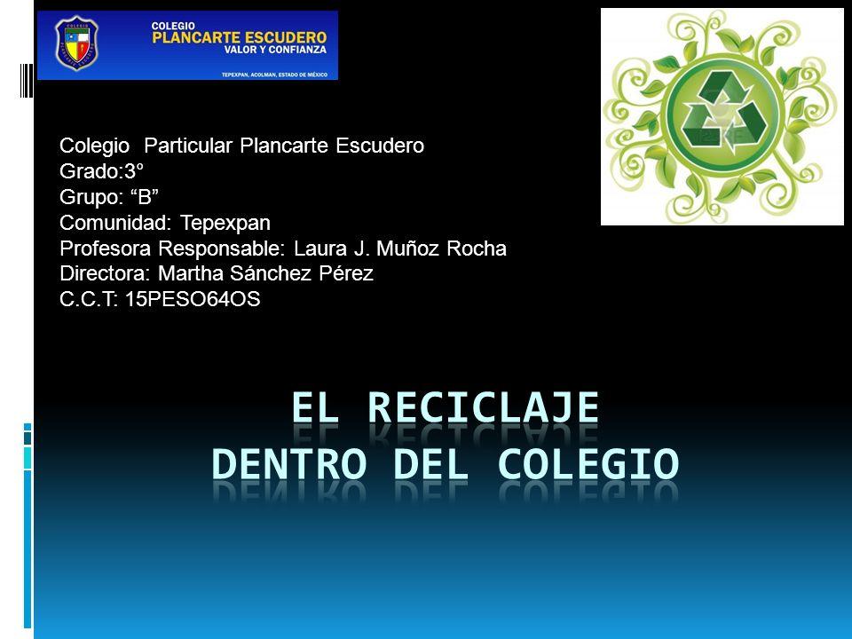 Colegio Particular Plancarte Escudero Grado:3° Grupo: B Comunidad: Tepexpan Profesora Responsable: Laura J. Muñoz Rocha Directora: Martha Sánchez Pére