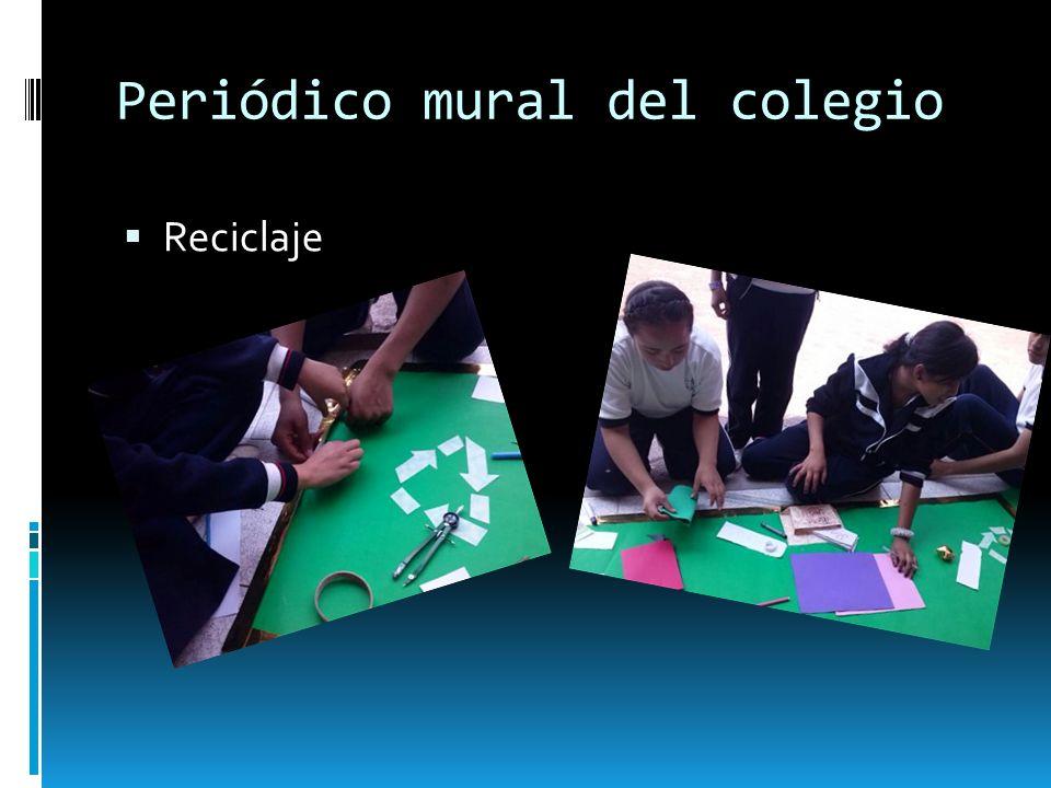 Periódico mural del colegio Reciclaje
