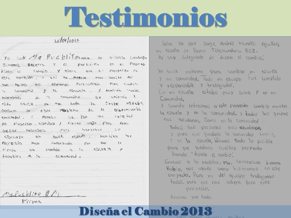 Testimonios Diseña el Cambio 2013