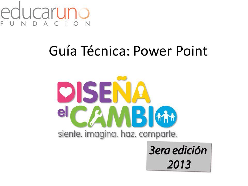 Guía Técnica: Power Point