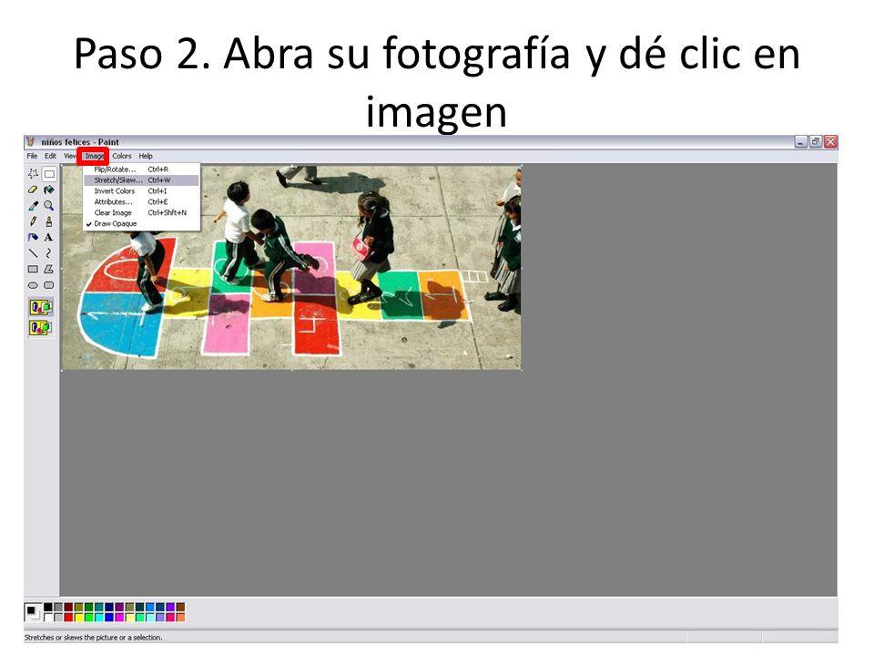 Paso 2. Abra su fotografía y dé clic en imagen