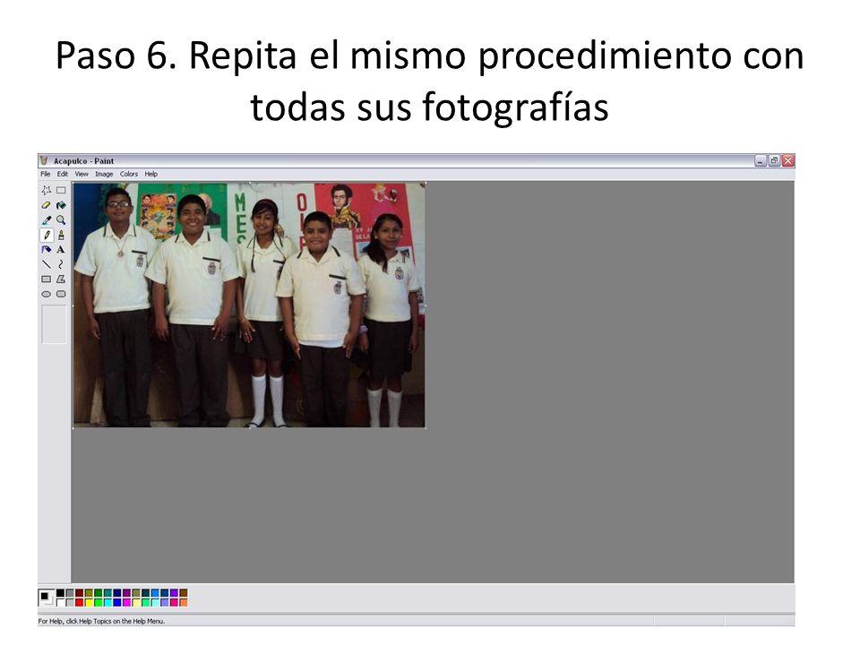 Paso 6. Repita el mismo procedimiento con todas sus fotografías