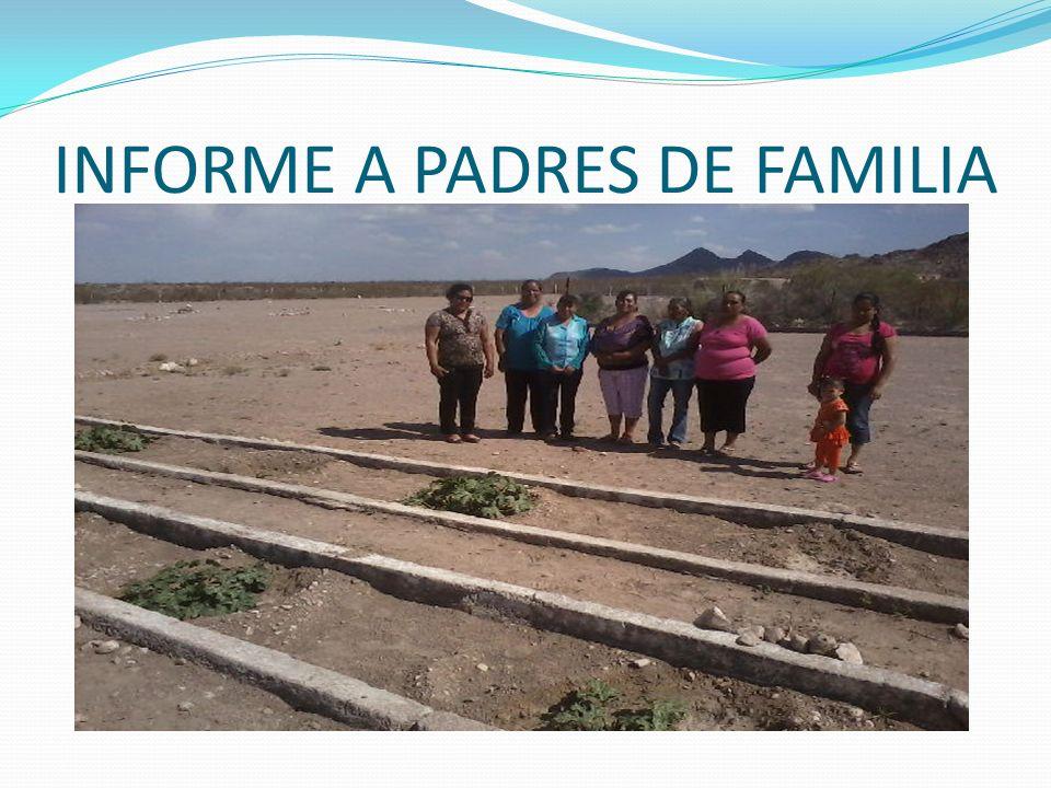 INFORME A PADRES DE FAMILIA