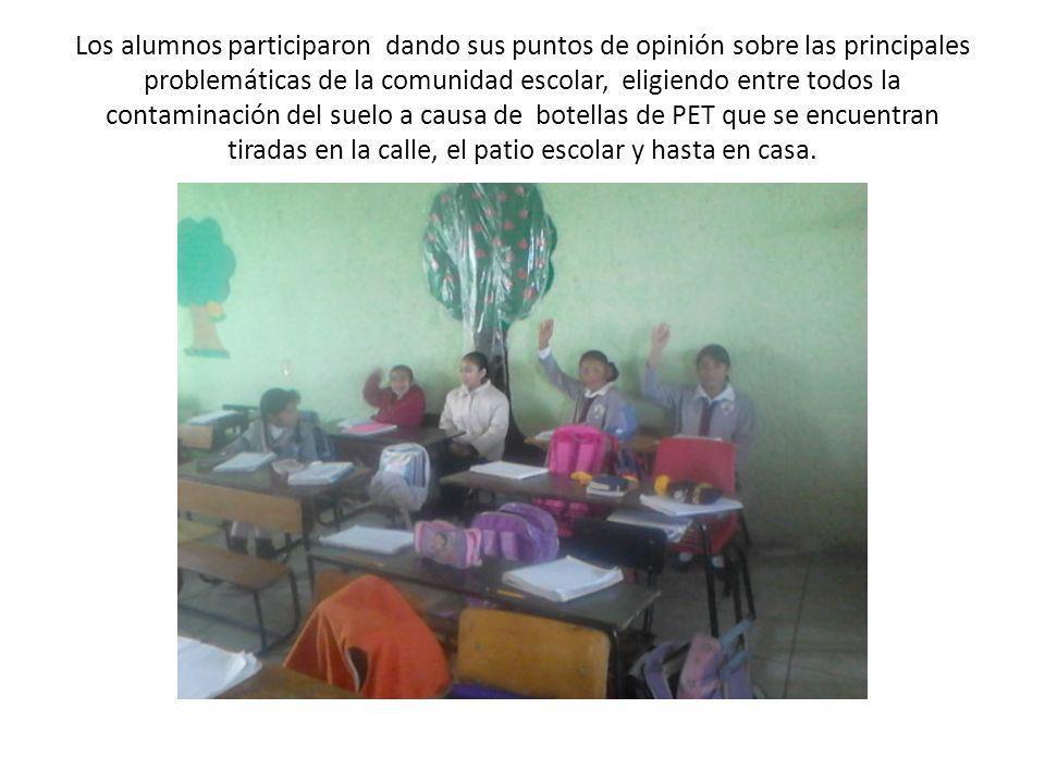 Los alumnos participaron dando sus puntos de opinión sobre las principales problemáticas de la comunidad escolar, eligiendo entre todos la contaminaci