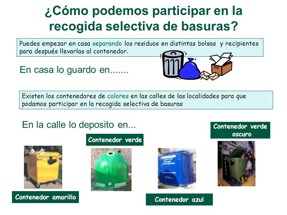 La recogida selectiva de basuras ¿POR QUÉ ES IMPORTANTE SELECCIONAR? Es importante seleccionar la basura y separar materiales que se puedan volver a u
