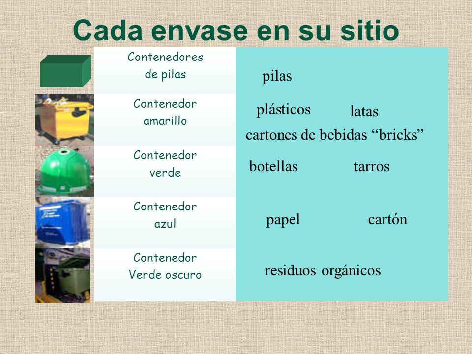 ¿Cómo podemos participar en la recogida selectiva de basuras? Existen los contenedores de colores en las calles de las localidades para que podamos pa