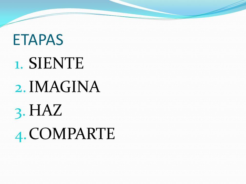 ETAPAS 1. SIENTE 2. IMAGINA 3. HAZ 4. COMPARTE