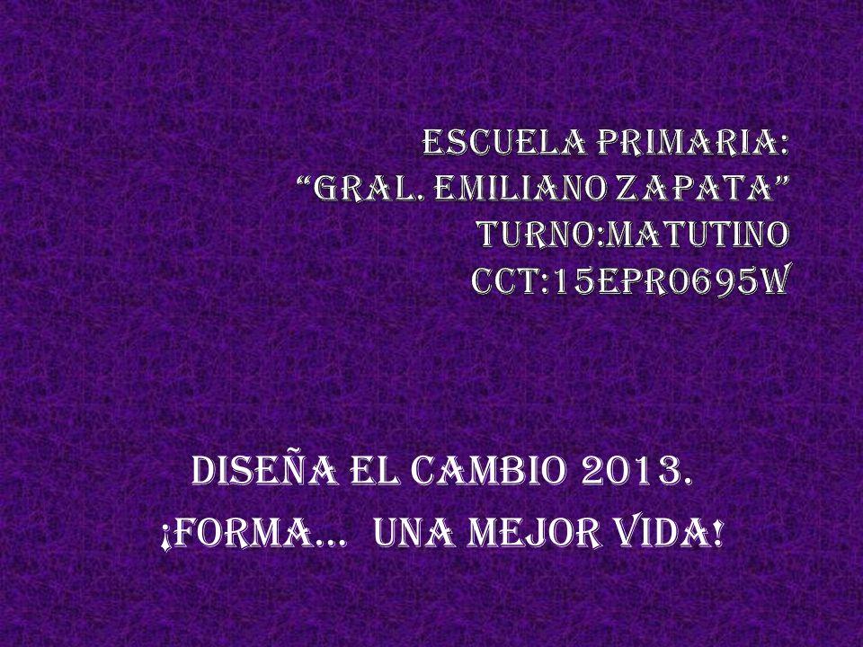 DISEÑA EL CAMBIO 2013. ¡forma… UNA MEJOR VIDA!