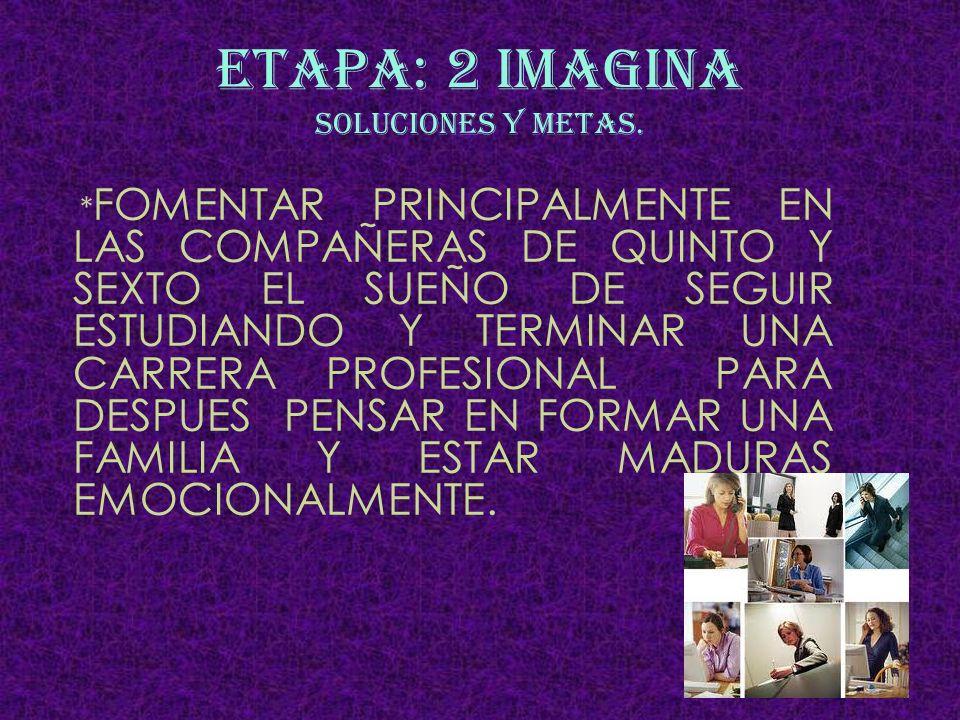 ETAPA: 2 IMAGINA SOLUCIONES Y METAS.