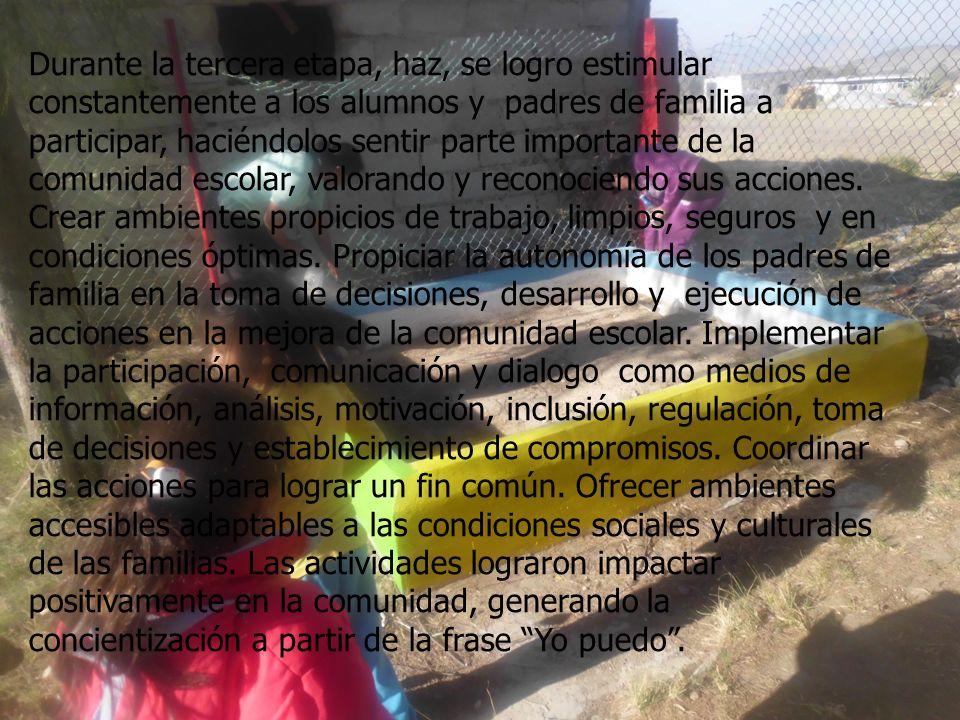 Comunicaciones: Difundir y dar a conocer la problemática a la comunidad en general a través del periódico mural, conferencias, creación del boletín es
