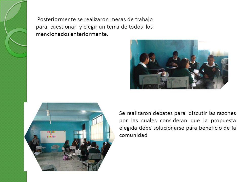 La realización de este proyecto nos ha ayudado tanto a maestros como a alumnos a trabajar en equipo para bien de nuestra escuela.