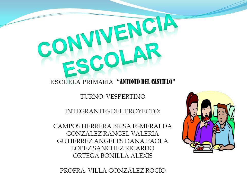 Nosotros somos los alumnos de la escuela primaria Antonio del Castillo del turno vespertino.