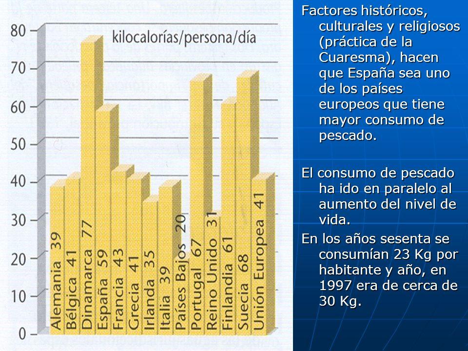 Factores históricos, culturales y religiosos (práctica de la Cuaresma), hacen que España sea uno de los países europeos que tiene mayor consumo de pes
