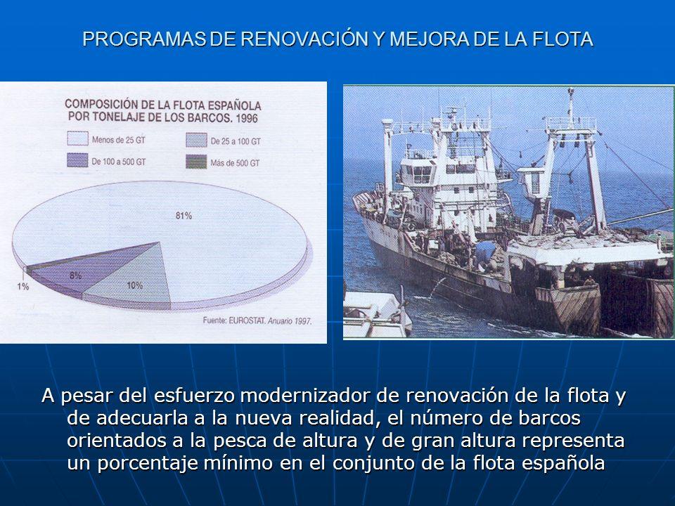 PROGRAMAS DE RENOVACIÓN Y MEJORA DE LA FLOTA La pesca artesanal y de bajura sigue siendo importante en las regiones mediterráneas.
