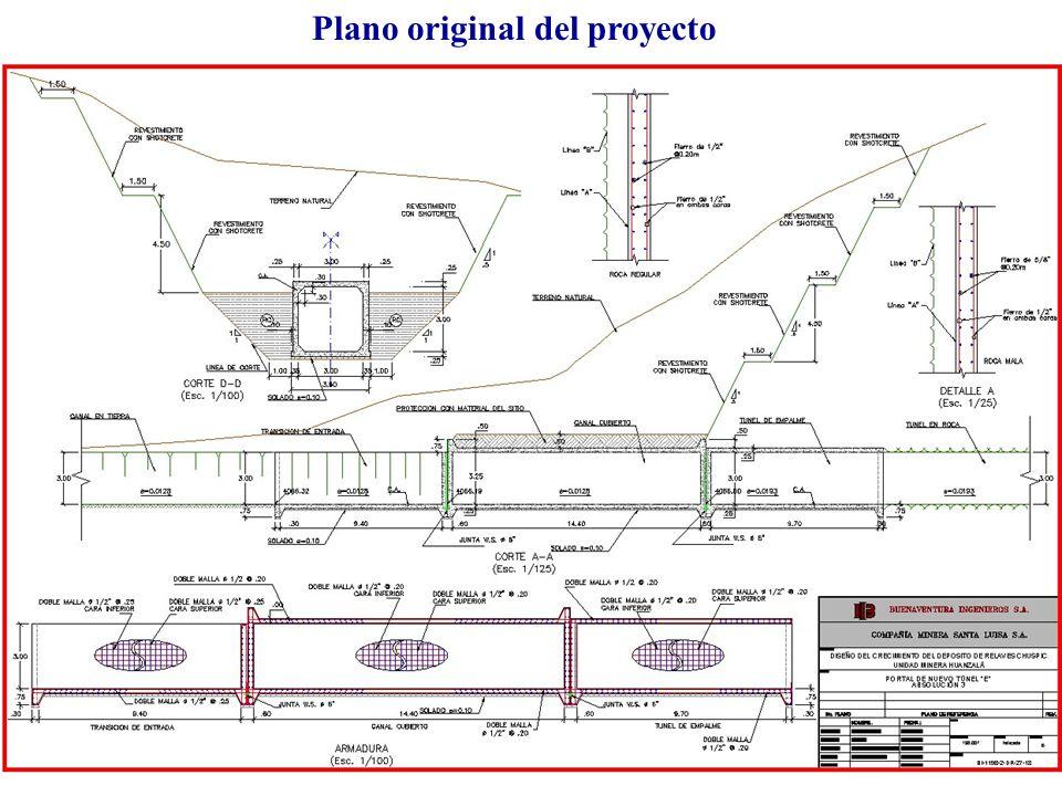 Plano original del proyecto