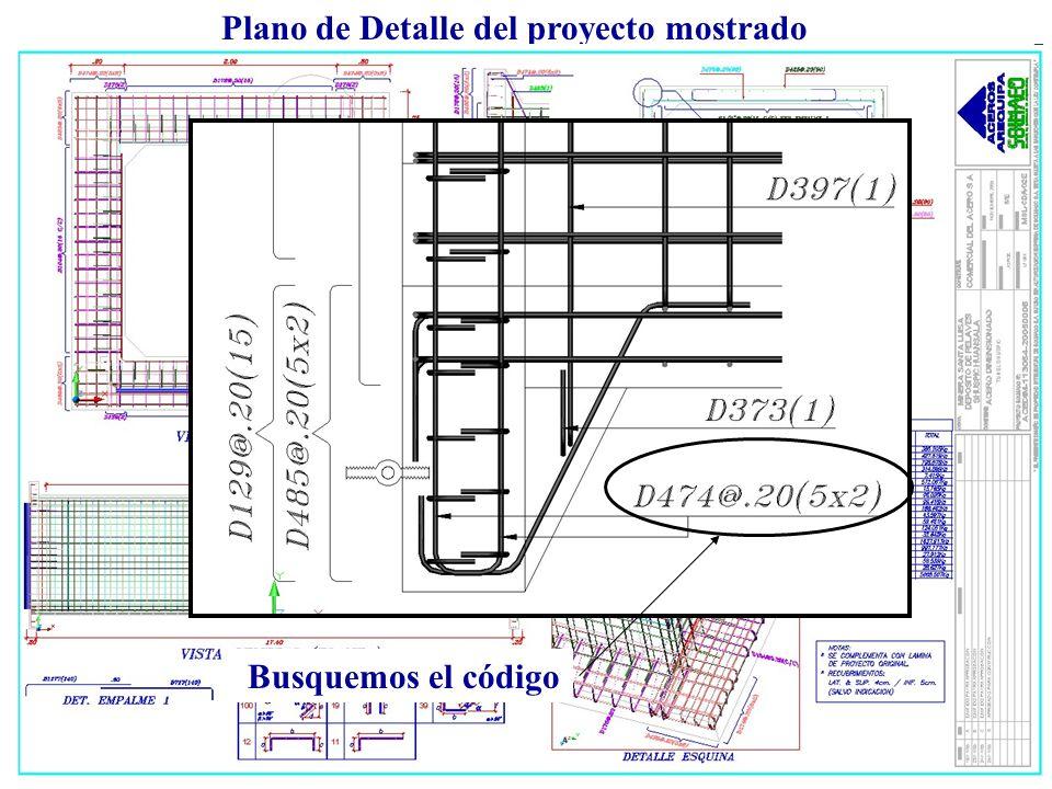 Plano de Detalle del proyecto mostrado Busquemos el código